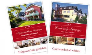 Hotelprospekte Park-Café Sprenger