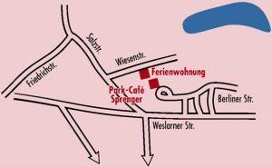 Anreise zum Park-Café Sprenger